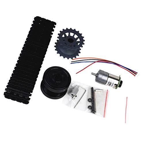 SM SunniMix Bricolaje Montado Tanque Robot Chasis Accs Rueda Rueda Kit Motor para Arduino