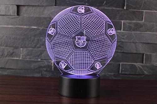 Ray-Velocity 3D Lámpara de Escritorio Mesa 7 cambiar el color botón táctil de escritorio del USB LED lámpara de tabla ligera para el Hogar Decoración Niños