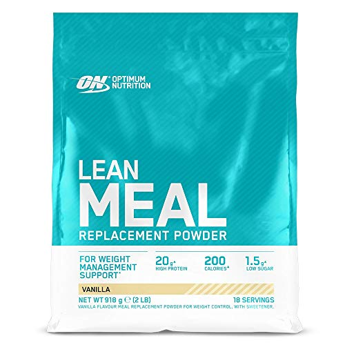 Optimum Nutrition ON Lean Meal Replacement, High Protein Multivitamin Powder with Minerals, Vanilla, 18 Servings, 918 g, Packaging May Vary