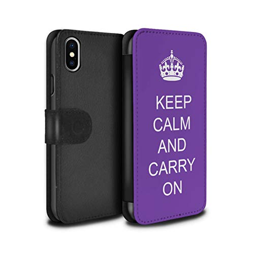 eSwish PU-lederen hoes/case/tas/cover voor Apple iPhone XS Max/maak andere/paars patroon/lood rustige collectie