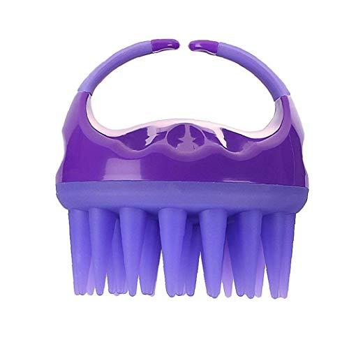Champú Cepillo de baño Ducha Peine Cepillo Limpio del Cuero cabelludo Massager del Cuerpo de Silicona Suave Pelo de la Colada de Masaje Que Adelgaza Peine púrpura Proteja su Salud