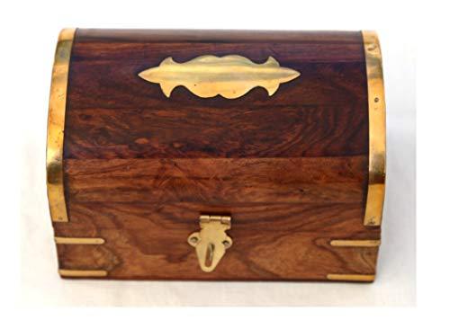 Fantastic wooden treasure chest trinket box