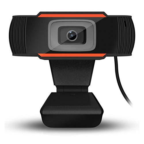 Thole Kamera Web 30 Grad drehbare 2.0 HD Webcam 1080p USB Videoaufnahme Webkamera mit Mikrofon für PC Computer,red
