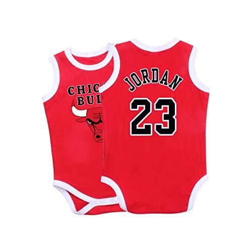 Baby Jersey Summer Warriors Lakers James Romper Camiseta sin Mangas de una Pieza sin Mangas