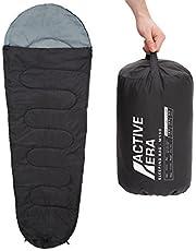 Active Era 150 Premium mummieslaapzak 1 persoons, licht – slaapzak voor outdoor, camping in de zomer of indoor - 210 x 80 x 50 cm