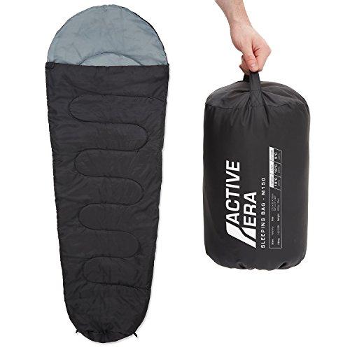 Active Era™ 150 Premium Mumienschlafsack, leicht - Schlafsack für Outdoor Camping im Sommer oder Indoor