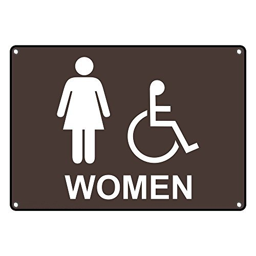 Weatherproof Plastic Same day shipping Houston Mall ADA Women Accessible Restroom Sign Eng with