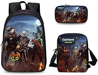 3PCS /set student Printed Game Fortnite Backpack School Bags For Girls and boys Travel Students nylon School Shoulder Bag Backpack Causal Laptop Bag
