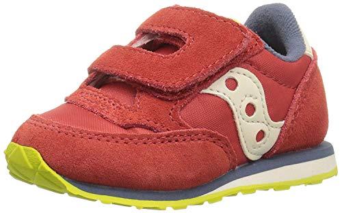 Saucony baby boys Jazz Hook & Loop Sneaker, Red/Blue/Lime, 8.5 Toddler US