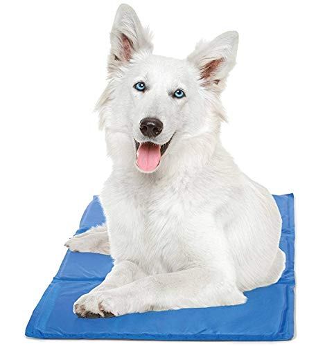 Chillz Cooling Mat For Dogs, Extra Large Size Cool Pad – Pressure Activated Gel Dog Cooling Mat – No Electricity or Refrigeration Required – Keep Your Pet Cool This Summer – 37 x 31.5 Inches
