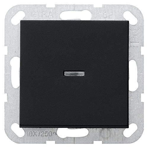 Gira 0122005 System 55 - Interruptor de control (10 AX 250 V, con balancín, 2 pines), color negro mate