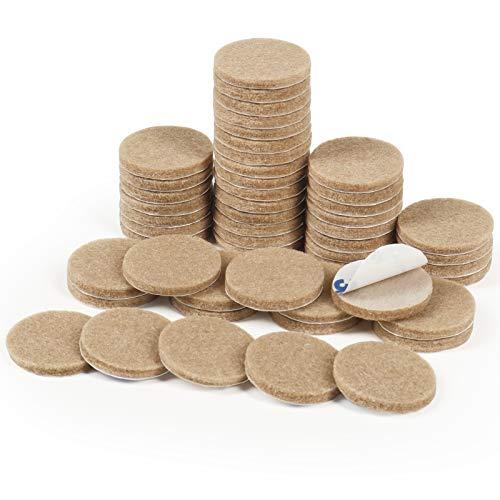 Filz Pad, 50 Stück Möbelgleiter Selbstklebend Filzgleiter Bodengleiter für Möbel Stühle Bodenschützer(Beige)