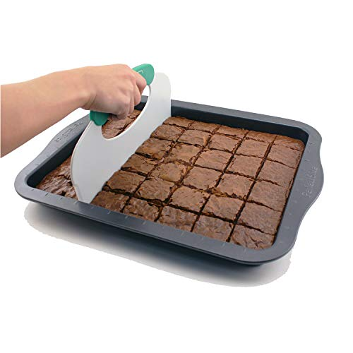 Perfect Slice Black Carbon Steel Cookie Sheet with Tool Rectangle Dishwasher Safe