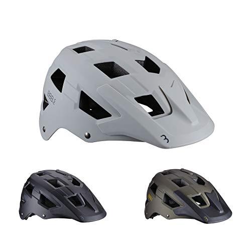 BBB Cycling Fahrradhelm Großen Visier und KameraHalterung Helm MTB, Matt Weiß, M (54-58 cm)