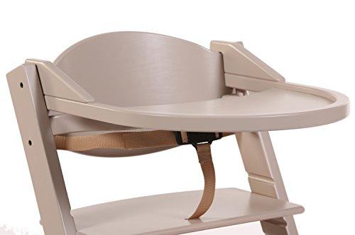 Treppy 1022 ein zusätzlicher Schreibtisch zum Kinderstuhl, Playtray Pastel braun