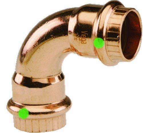 Viega 77327 ProPress Zero Lead Copper 90-Degree Elbow with 1-Inch P x P by Viega PEX