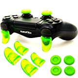 L2 R2 Ps4 Trigger Extenders (2 Pairs L2 R2 Triggers, 4pcs Joystick Cap, 2 Pairs LED Light Bar Decal) for Ps4 Controller