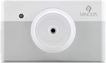 Minolta Instapix 2 in 1 Instant Print Digital Camera & Bluetooth Printer, Gray