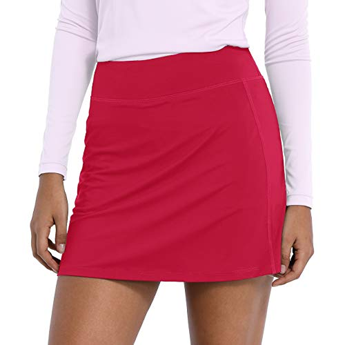 CQC Women's Golf Skorts Lightweight Active Skirts with Pockets for Running Tennis Workout Sports Red S