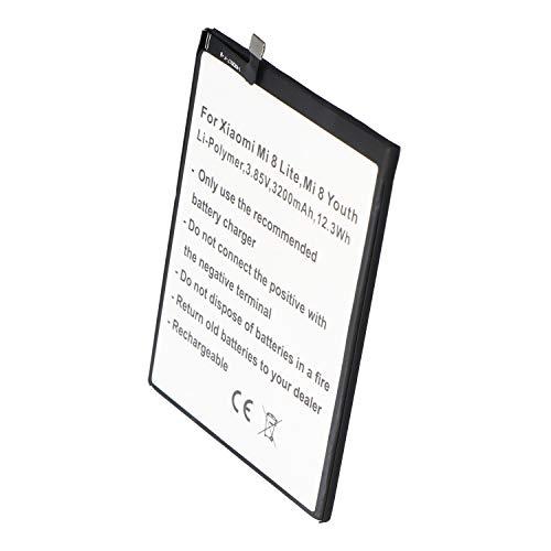 Batería para Xiaomi Mi 8 Lite, Mi 8 Youth, polímero de Litio, 3,85 V, 3200 mAh, 12,3 WH, sin Herramientas