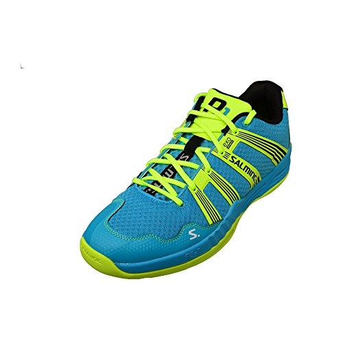 SALMING Race R1 2.0 Schuhe Herren Hallenschuhe Handballschuhe Sportschuhe Gelb 1234091-9191, Größenauswahl:48