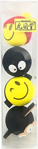 Antenna Topper Cartoon Ball for Car Truck SUV Automotive Exterior Decor Ornament 4pcs (cute, multi)