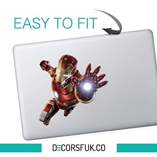 Lsmaa Flying ironman macbook sticker - stickers voor macbook - marvel sticker - Ironman, Batman, Superman, Spiderman