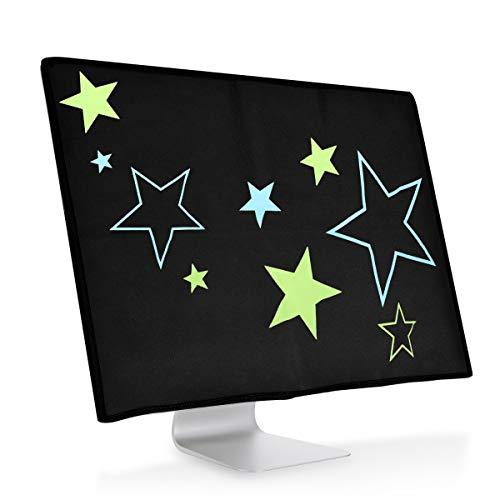 kwmobile Cover Compatibile con Apple iMac 27' / iMac PRO 27' - Protezione per Monitor PC Antipolvere per Schermo Computer - Custodia Protettiva - Stellare Verde Chiaro/Blu/Nero
