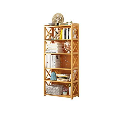JJZXD Puertas Librero Librero Estantería de almacenamiento de escritorio Organizador Pantalla Biblioteca Pata de Palo