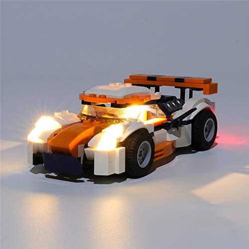 RTMX&kk Conjunto de Luces para Corredor de Pista al Atardecer Modelo de Construcción de Bloques, USB Juego de Luces Compatible con Lego 31089 (NO Incluido en el Modelo)