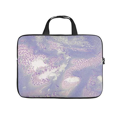 Bolsa para ordenador portátil con textura de mármol, reutilizable, de tono fresco para tablet, adecuada para negocios.