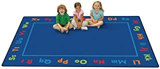 Carpets for Kids Alphabet KID$ Value PLUS Rug - 6' x 9', Blue
