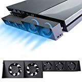 linkshare PS4 Cooling Fan, USB External Cooler 5 Fan Turbo Temperature Control Cooling Fans for Sony Playstation Gaming Console