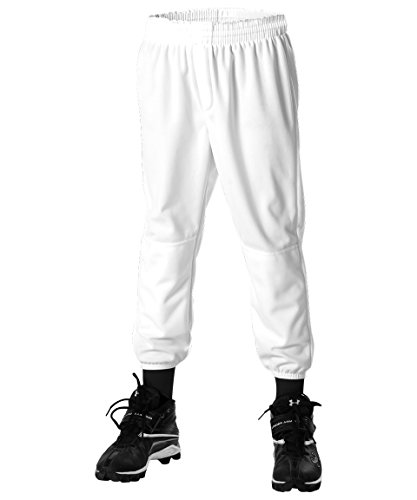 Alleson Athletic Pull on Baseball Pant, White, Large