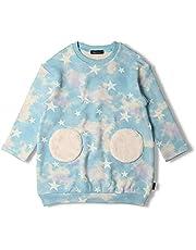 【子供服】 moujonjon (ムージョンジョン) 日本製ベア裏毛タイダイ星柄ワンピース 90cm~130cm M54340