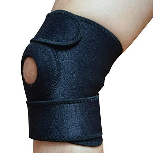 FastBodyFit Kniebandage Sport NEUE 20,5 cm lange, stabile Bandage für die Schmerzlinderung im Knie. Leicht und einfach anzubringen Universalgröße und mit ergonomischen FastBodyFit-Maßband