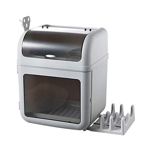 Aufbewahrungsbox für Geschirr Staubdichter Geschirrtrockner mit Deckeldeckel Doppelschichtiger Flaschenhalter 33 * 28 * 41 cm