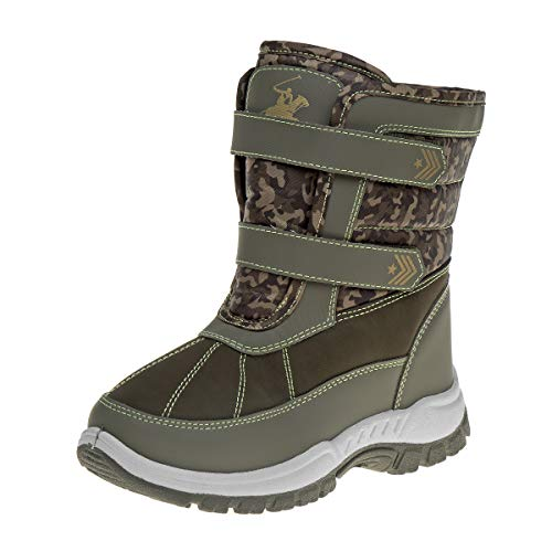 Beverly Hills Polo Club Boys' Fur Lined Camo Snow Boot, Size 7 Toddler, Brown'