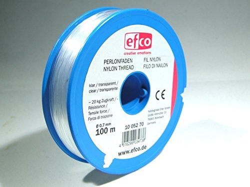 efco Zugkraft-Faden, Polyamid, 20,0kg, 0,7mm Durchmesser, 100m, Transparent