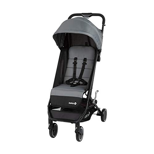 Safety 1st Soko, cochecito plegable pequeño, silla de paseo ligera, para uso desde el nacimiento hasta los 3 años aproximadamente, Black Grey