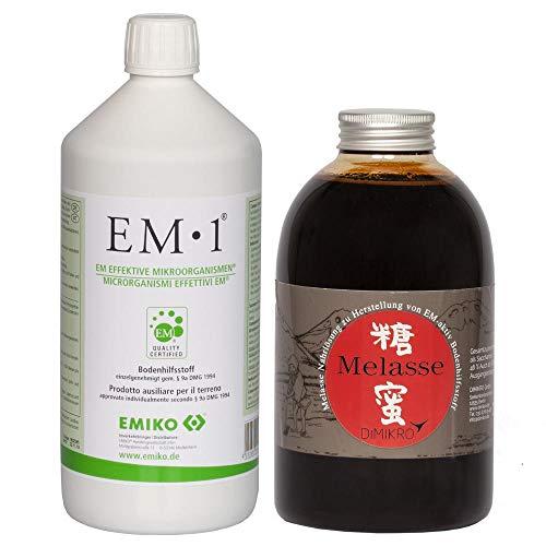 Set Effektive Mikroorganismen EM 1 + Melasse (je 1 Liter)+ Infoblatt über EM vom EM Fachhandel