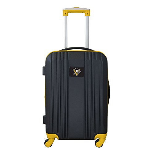Lowest Price! Denco NHL Pittsburgh Penguins Round-Tripper Two-Tone Hardcase Luggage Spinner