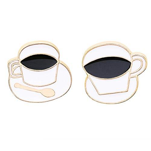 SKZKK Emaille Revers Pin Vintage Palace Amerikanischen Kaffeetasse Pins für Jacken, Broschen und Pins für Frauen Zink-Legierung gemalt