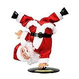 VARWANEO Electric Santa Claus, Inverted Rotation Singing and Dancing Chrismas Toy Christmas Dolls Christmas Electric Dancing Music Santa Claus Doll Xmas Gift