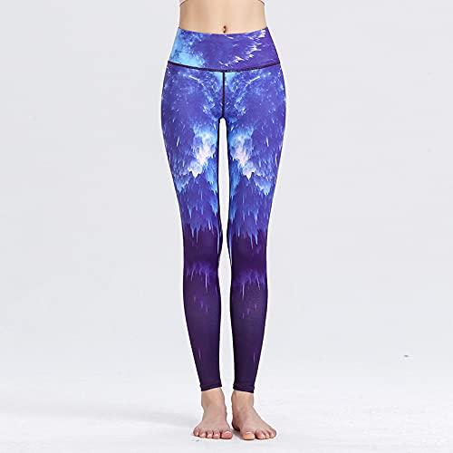 Push Up Leggings Para Mujer,Mujeres Imprimieron Pantalones De Yoga Pantalones De Yoga Barriga Control Trasero Levantar Leggings De Entrenamiento De Cintura Alta Purple Rendering Cómodo Esti