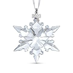 Swarovski Annual Edition Ornament 2020 is an exquisitely designed ornament The annual ornament hangs on a white satin ribbon and displays beautifully on the tree or window Not a toy Package Dimensions: 3.175 L x 16.383 H x 13.335 W (centimeters) Moun...