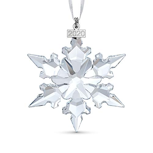 Swarovski Snowflake Anniversary Ornament, Limited Edition for 2020, Swarovski Crystal Christmas Tree and Home Ornament
