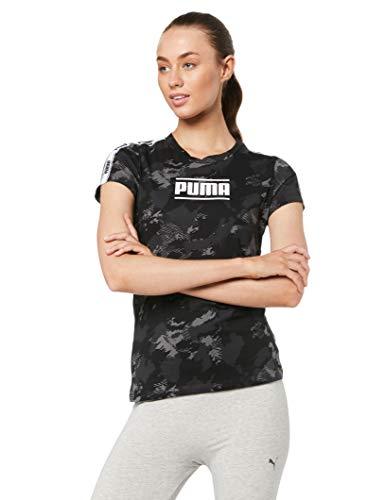 PUMA Camo Pack AOP Tee Wms T-Shirt Donna Nera 57955701 Nero M