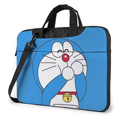 XCNGG Cute Doraemon Laptop Bag Business Briefcase for Men Women, Shoulder Messenger Laptop Sleeve Case Carrying Bag- 15.6 Inch