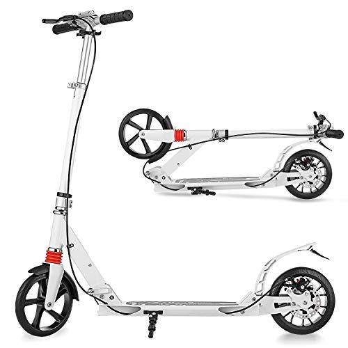 YUEBO Roller Erwachsene Tretroller klappbar Adult Kick Scooter mit Handbremse Kickroller für Erwachsene und Kinder bis 100kg belastbar